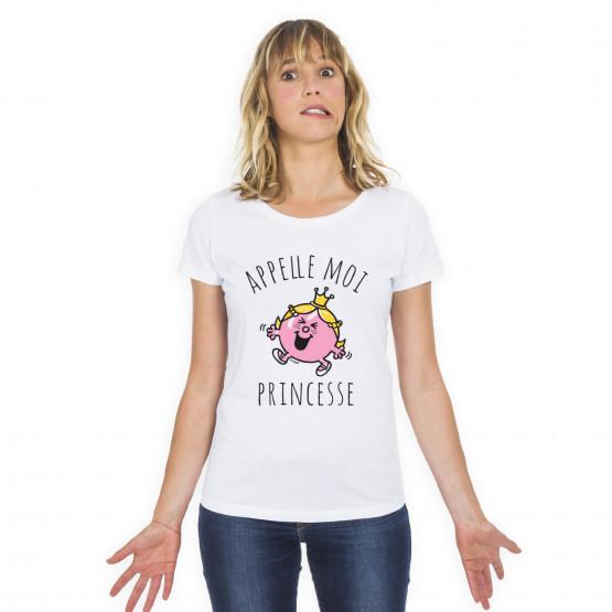 Tshirt APPELLE MOI PRINCESSE
